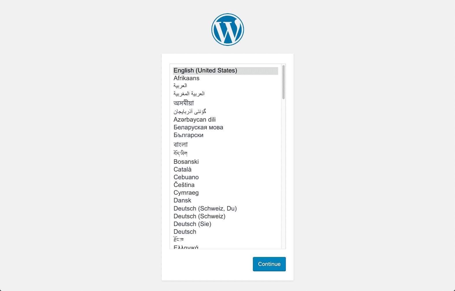 wordpress-install-language